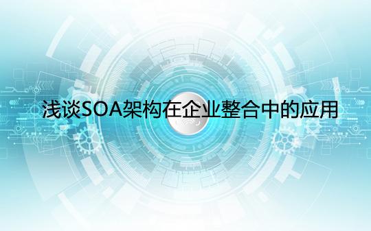 浅谈SOA架构在企业整合中的应用